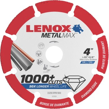 Lenox  4x5/8in. Cutoff Wheel
