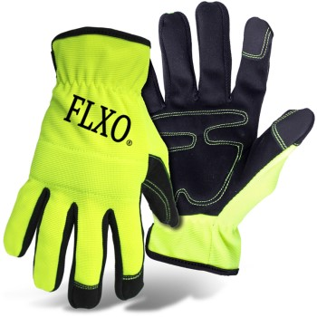 2x Hi-Vis Mechanic Glove