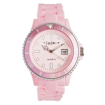 Fusion Color Link, Light Pink Dial & Plastic Link Band