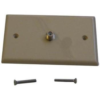 Black Point Prods Bv-029 Ivory Coax Wall Plate