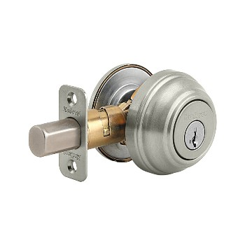 Kwikset 99800-090 Single Cylinder Deadbolt 980/Smart Key  ~ Satin Nickel