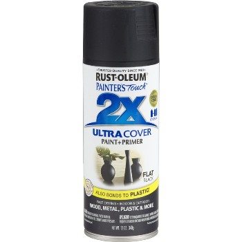 Rust-Oleum 249127 Spray Paint, 2X Ultra ~ Flat Black, 12 oz Cans