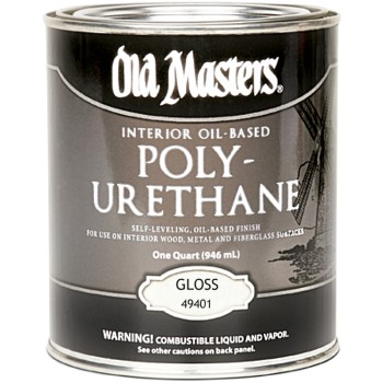 Old Masters 49401 Oil-Based  Interior Polyurethane, Gloss  ~ Gallon