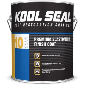 Snow Roof/KST  KS0063600-16 KOOL SEAL Premium Elastomeric Roof Coating, White  ~ 3.40 L