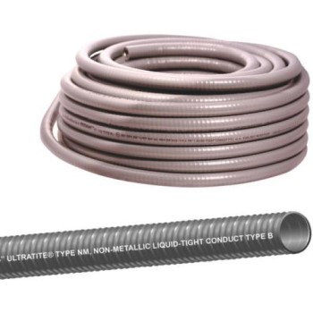 "Utratite®  Flexible Type NM Conduit, Gray ~ 3/4"" x 100 Ft."