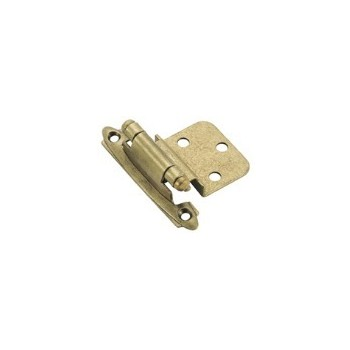 Inset Hinge - Self Closing/Burnished Brass Finish-3/8""