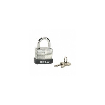 1 1/8in. Lam Steel Padlock