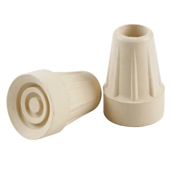 "Rubber Crutch Tips, Cream ~ 3/4"" - 7/8"""