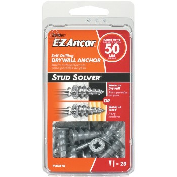 E-Z Ancor® Stud Solver Anchor, 50 lb ~ Pack of 20