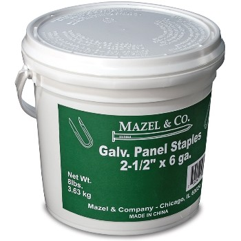 8# Pail2-1/2in. Galv Pane Staples