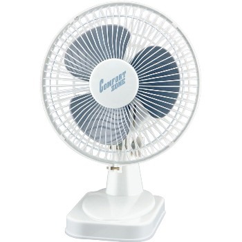 "H Berger Co 123773 Comfort Zone Desk Fan, White  ~ Approx 10-1/2"" x 8"" x 6"""
