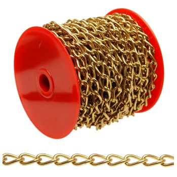 Twist Link Chain - Brass Plated