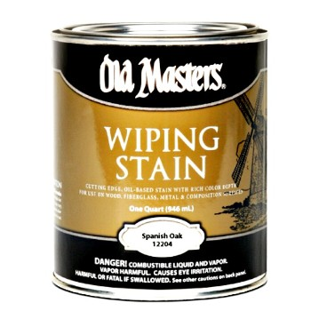 Old Masters 12201 Wiping Wood Stain, Spanish Oak - One Gallon