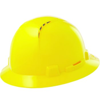 Vented Hard Hat, Full Brim ~ Yellow