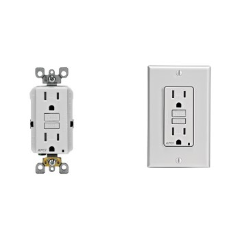ARC Fault Circuit Interrupter, White  ~ 15A-125V