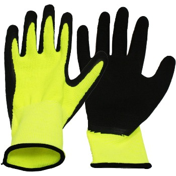 Latex Coated Gloves, Textured ~ XL