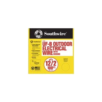 Southwire 13055923 Grounded UF Wire, 12/2g 100ft.