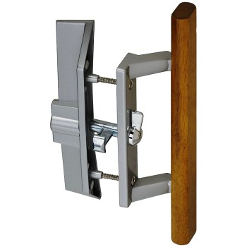 Patio Door Handle Lock Set ~ Aluminum Finish