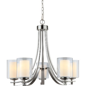 El Dorado Design Series 5-Light Chandelier ~ Satin Nickel Finish