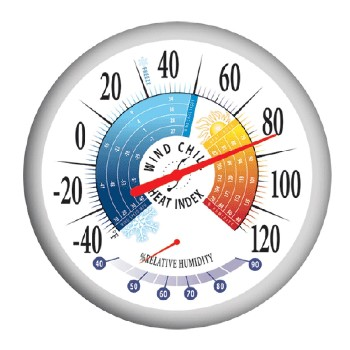 Thermometer ~ Heat Index & Wind Chill,  13.25""