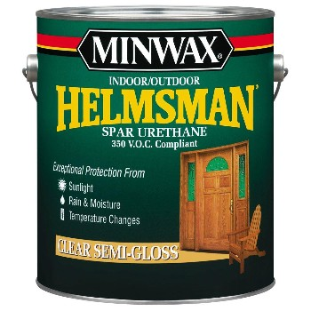 Minwax 13210 Helmsman Spar Urethane,  Clear Semi-Gloss ~ Gallon