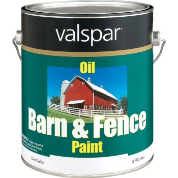 Valspar/McCloskey 018.3141-75.007 Barn and Fence Oil-Based Paint,  White ~ Gallon
