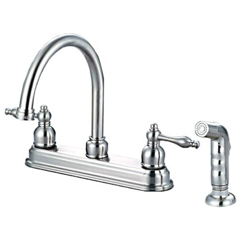 Hardware House  122757 Kitchen Faucet with Spray