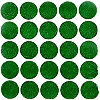 "Light Duty Protective Felt Pads, Green  ~ 3/8"" Round"