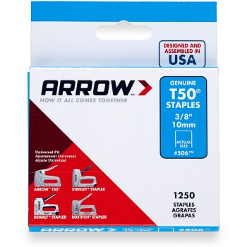 Staples, T50 Arrow Staple ~ 3/8""