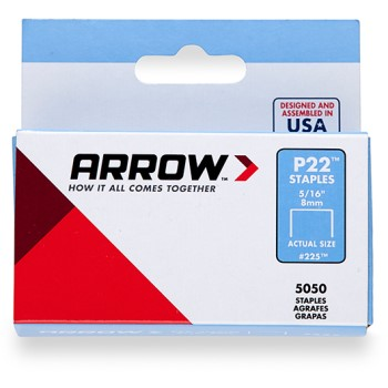 Arrow Staples.  5/16 inch ~ For P22 Stapler