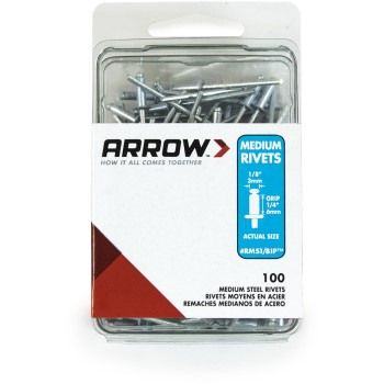 Rivets - Medium Steel - 1/8 inch