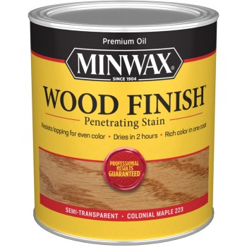 Wood Finish ~ Colonial Maple,  Quart