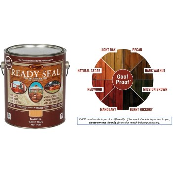 Ready Seal Wood Stain and Sealant, Natural Light Oak  ~  Gallon