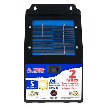 Fi-Shock 2 Mile Low Impedance Solar Fence Charger