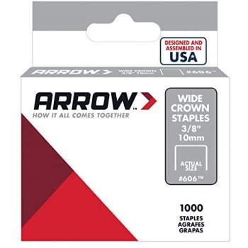 Arrow Fastener 606 Staples for Heavy Duty Gun Tacker - 3/8 inch