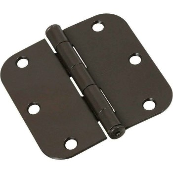 "Radius Corner Door Hinges,  Oil Rubbed Bronze ~  5/8"" Radius x 3.5"""