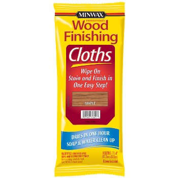 Maple Stain Finishing Cloths  ~  8 Cloths Per Package