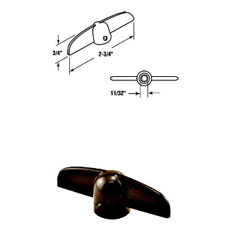 Casement Tee Crank Handle - Bronze