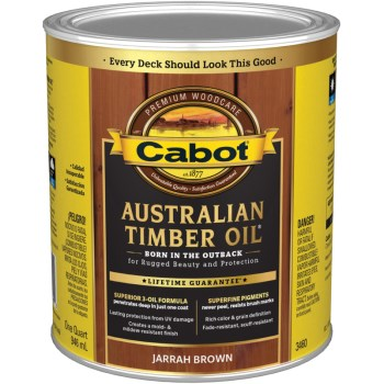 Australian Timber Oil - Jarrah Brown ~ Quart