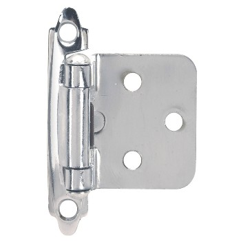 Flush Cabinet Hinge, Chrome