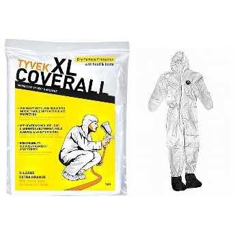 Tyvek Coveralls w/Hood & Boots  ~ XL
