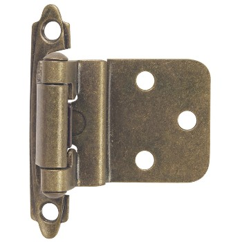 Inset Cabinet Hinge, Antique Brass 3/8 inch