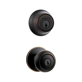 Kwikset 96900-332 Cove Combo Lockset,  Entry Knob & Deadbolt ~ Venetian Bronze