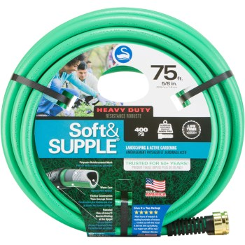 "Garden Hose - Soft & Supple - 5/8"" x 75'"