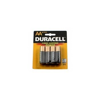 Batteries, Duracell® ~ AA 4 Pack