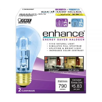enhance®  Energy Saving Bulb, Clear ~ 53 Watt
