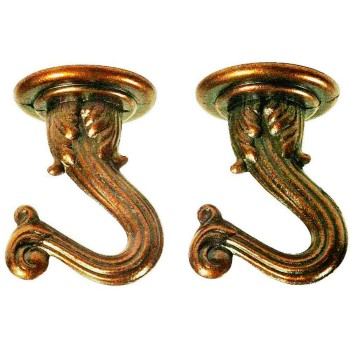 Swag Light Hook Kit - Antique Copper Finish