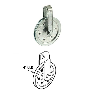 Pulley w/Strap & Axle Bolt - 4""