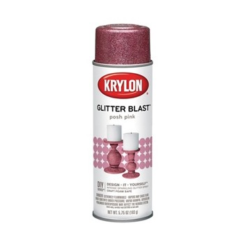 Glitter Blast Spray Paint, Post Pink ~ 5.7 5oz