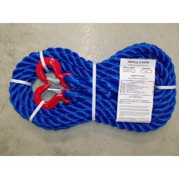 "Polypropylene Hook x Hook Tow Rope, 12,500Lb ~ 7/8"" x 20 Ft"